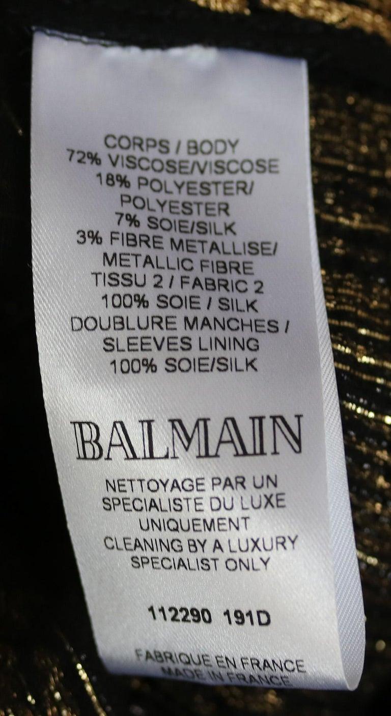 Balmain Metallic Tweed Fringe Long Cardigan For Sale 1