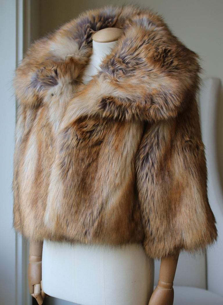 b5cb9aa6d123 Nili Lotan Garbo Faux Fur Jacket For Sale at 1stdibs