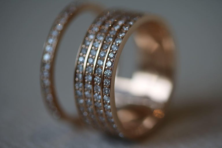 Carbon And Hyde 14k Rose Gold And Diamond Halo Ring For