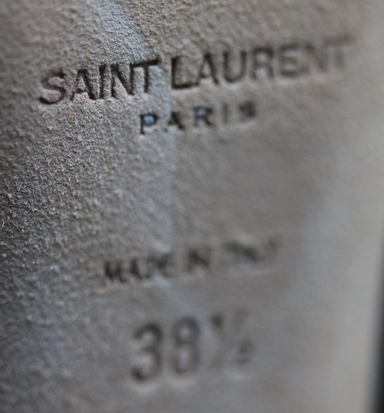 Saint Laurent Tanger 105 Ikat Over-The-Knee Boots For Sale 1
