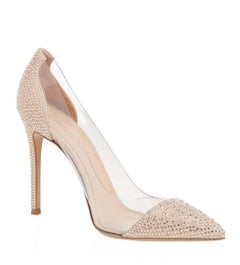 Gianvito Rossi Calabria Crystal-Embellished Pumps