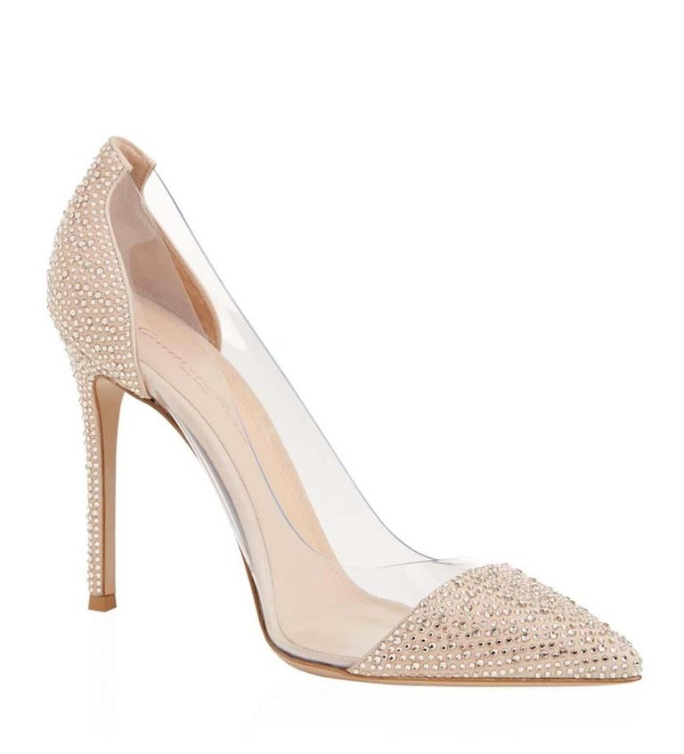 4989be283554 Gianvito Rossi Calabria Crystal-Embellished Pumps For Sale at 1stdibs