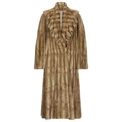 Fendi Ermine Fur Long Coat