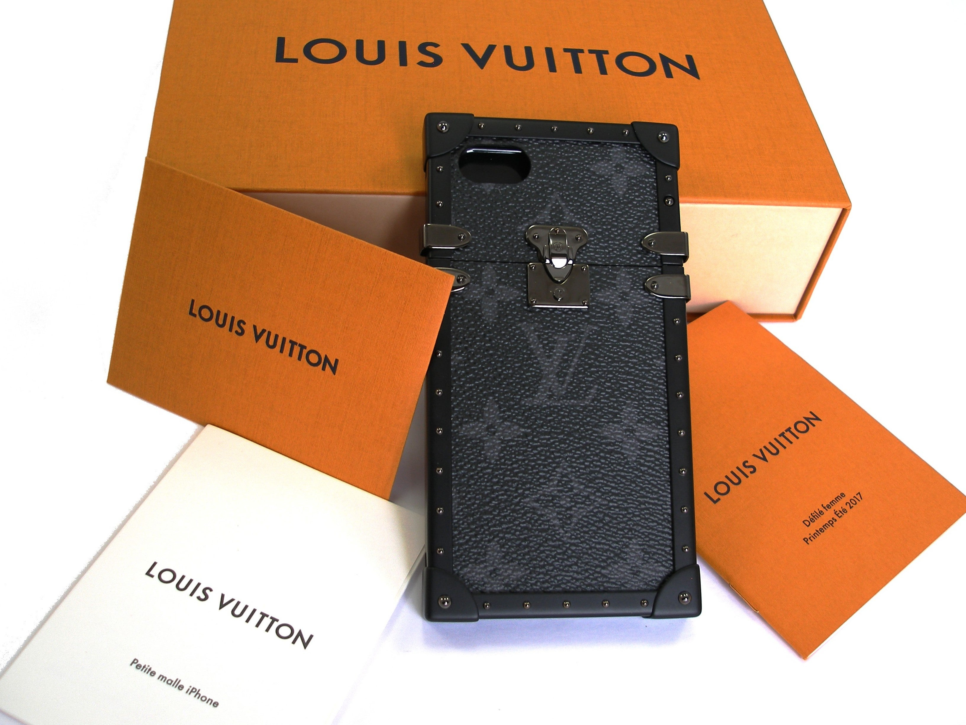 Louis Vuitton Eye-trunk I Phone 7 Eclipse Petite Malle Bnib Original Receipt Is6cs8vB