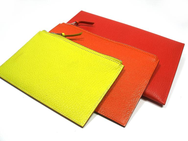 Hermès Enveloppe Trio wallet GM / Brand new  In New Never_worn Condition For Sale In Saumur, FR