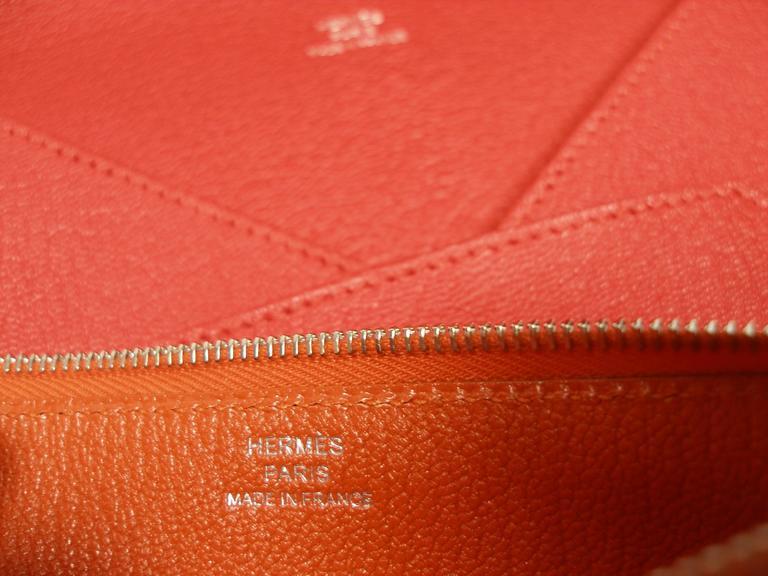 Women's Hermès Enveloppe Trio wallet GM / Brand new  For Sale
