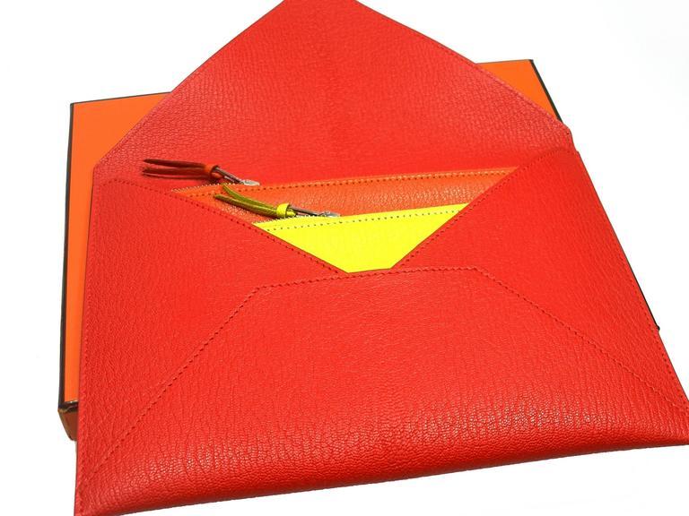 Hermès Enveloppe Trio wallet GM / Brand new  For Sale 1
