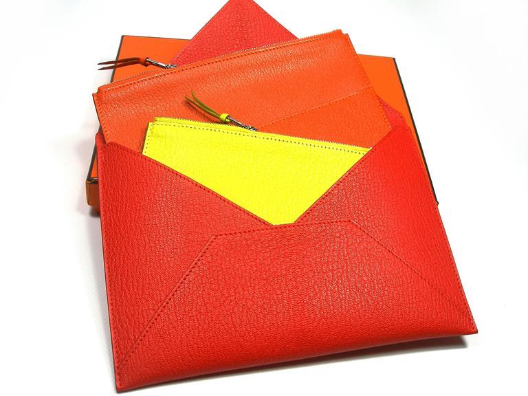 Hermès Enveloppe Trio wallet GM / Brand new  For Sale 2