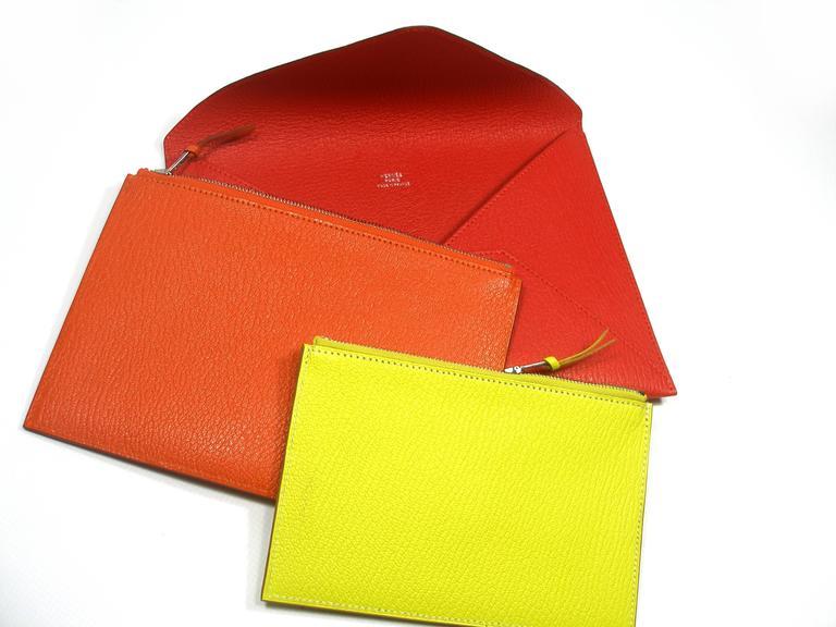 Hermès Enveloppe Trio wallet GM / Brand new  For Sale 4