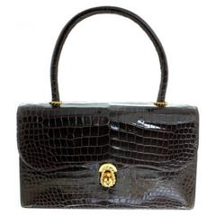 Hermès Ring croc Vintage Bag