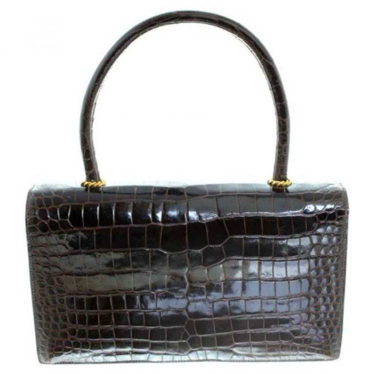 Hermès Ring croc Vintage Bag  6
