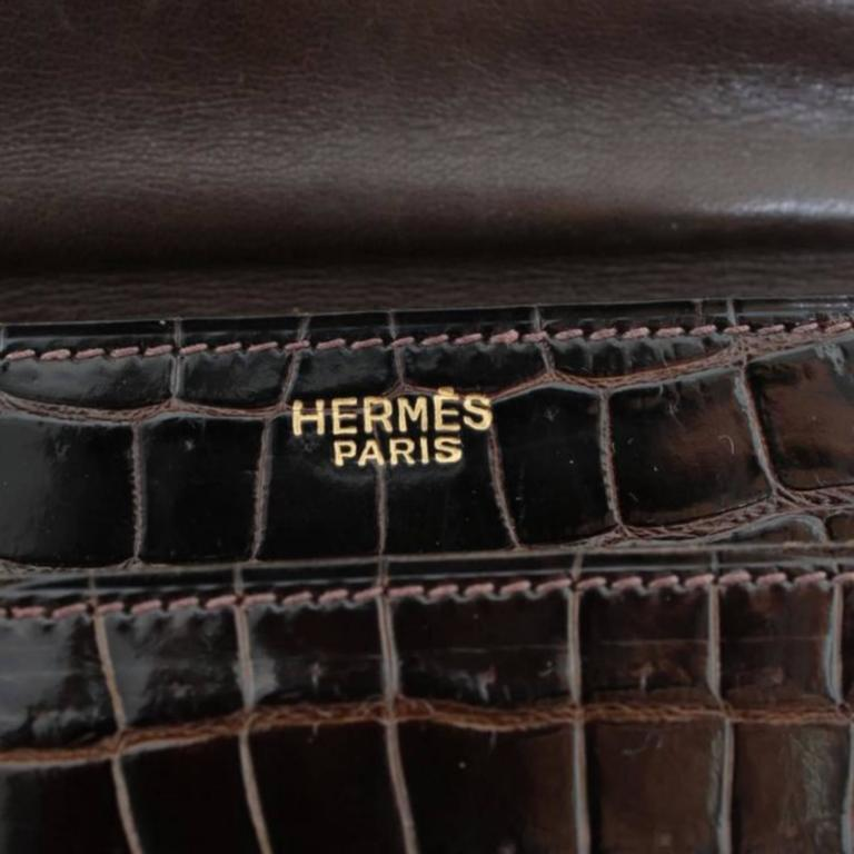 Hermès Ring croc Vintage Bag  9