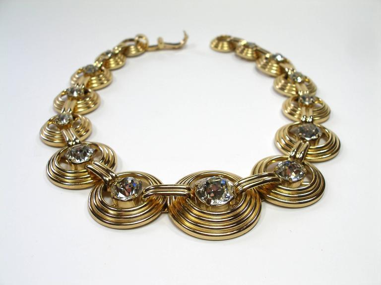 Fantastic Necklace Dior Gemany Vintage métal and crystal  2