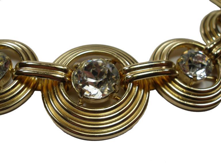 Fantastic Necklace Dior Gemany Vintage métal and crystal  3
