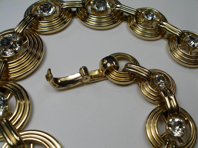 Fantastic Necklace Dior Gemany Vintage métal and crystal  4