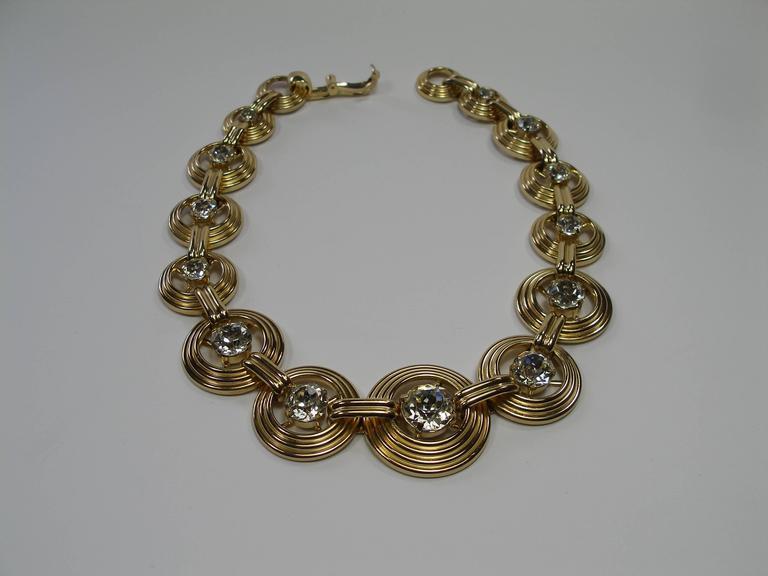 Fantastic Necklace Dior Gemany Vintage métal and crystal  5