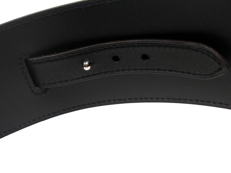 Women's Hermès Piano Belt black box leather / Brand New For Sale