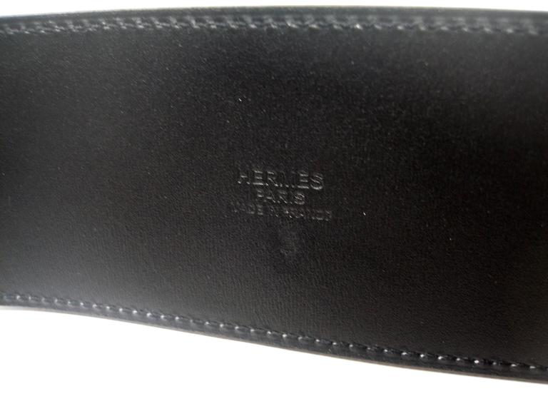 Hermès Piano Belt black box leather / Brand New For Sale 1