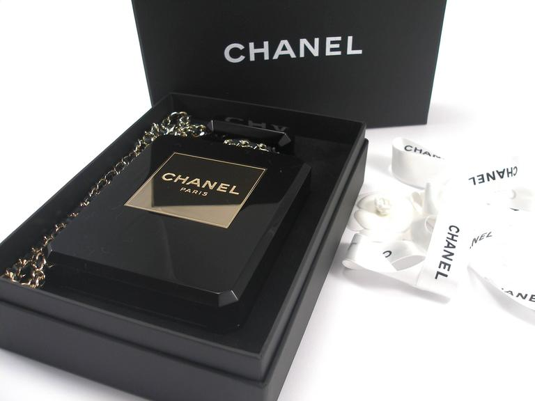 Chanel Black Perfume Bottle Bag Limited Edition / VERY RARE and COLLECTOR For Sale 4