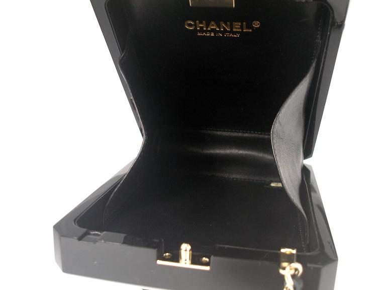 Chanel Black Perfume Bottle Bag Limited Edition / VERY RARE and COLLECTOR For Sale 6