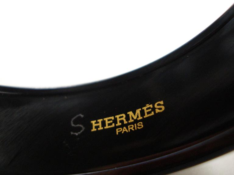Hermes Optique Chaine D'Ancre Enamel Bracelet PM 6 cm / Black Limited Edition For Sale 3