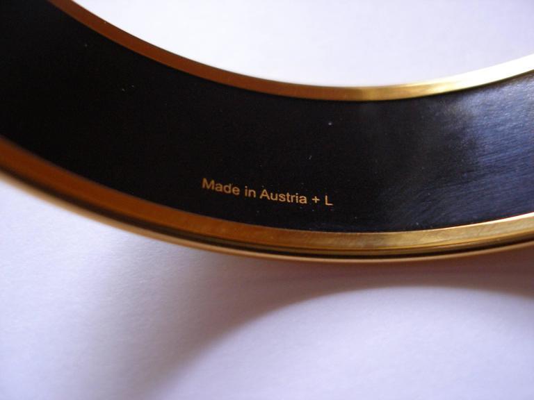 Hermès Tohu Bohu Printed Enamel Bracelet PM 6 cm / RARE  For Sale 6
