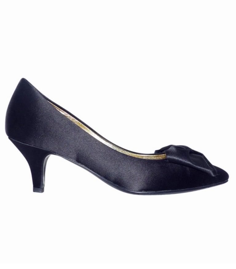 Chanel classique satin evening shoes Black satin / RARE / LIKE NEW  2