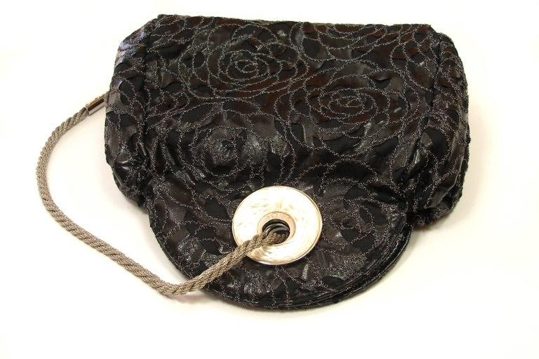 Rare Lalique Embellished Lurex Cam 233 Lia Evening Bag For