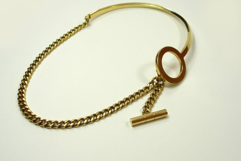 FAN-TASTIC Tom Ford Gold Jewerly Necklace / Good Condition  In Good Condition For Sale In Saumur, FR