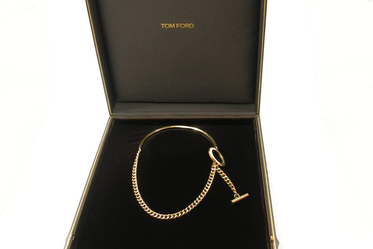 FAN-TASTIC Tom Ford Gold Jewerly Necklace / Good Condition  For Sale 6