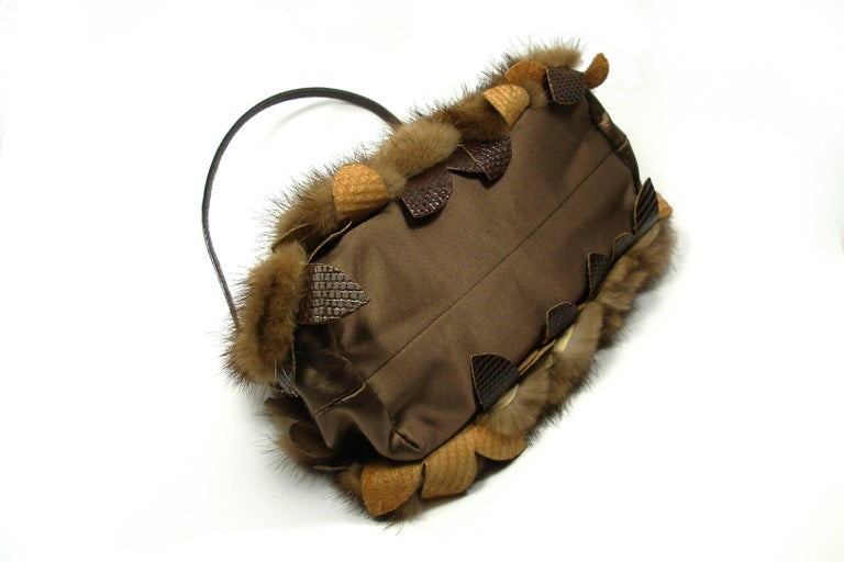 Valentino Fan-tas-tic Valentino Evening Bag In Mink Fur And Crystal /edition Limited Rare yvTrgn