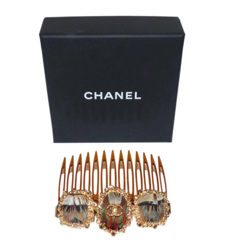 Brown Rare Chanel Paris Edimbourg Hair Comb / LIKE NEW  For Sale