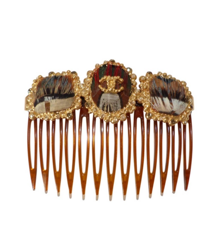 Women's Rare Chanel Paris Edimbourg Hair Comb / LIKE NEW  For Sale