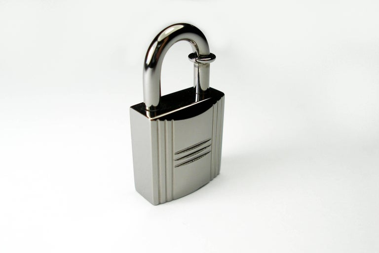 Gray RARE Hermès Ruthenium lock Charm / BRAND NEW  For Sale