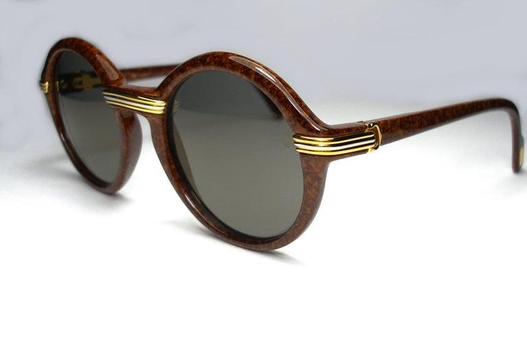 8ffc45e5e15 Brown Gold Cartier Sunglasses In South Africa