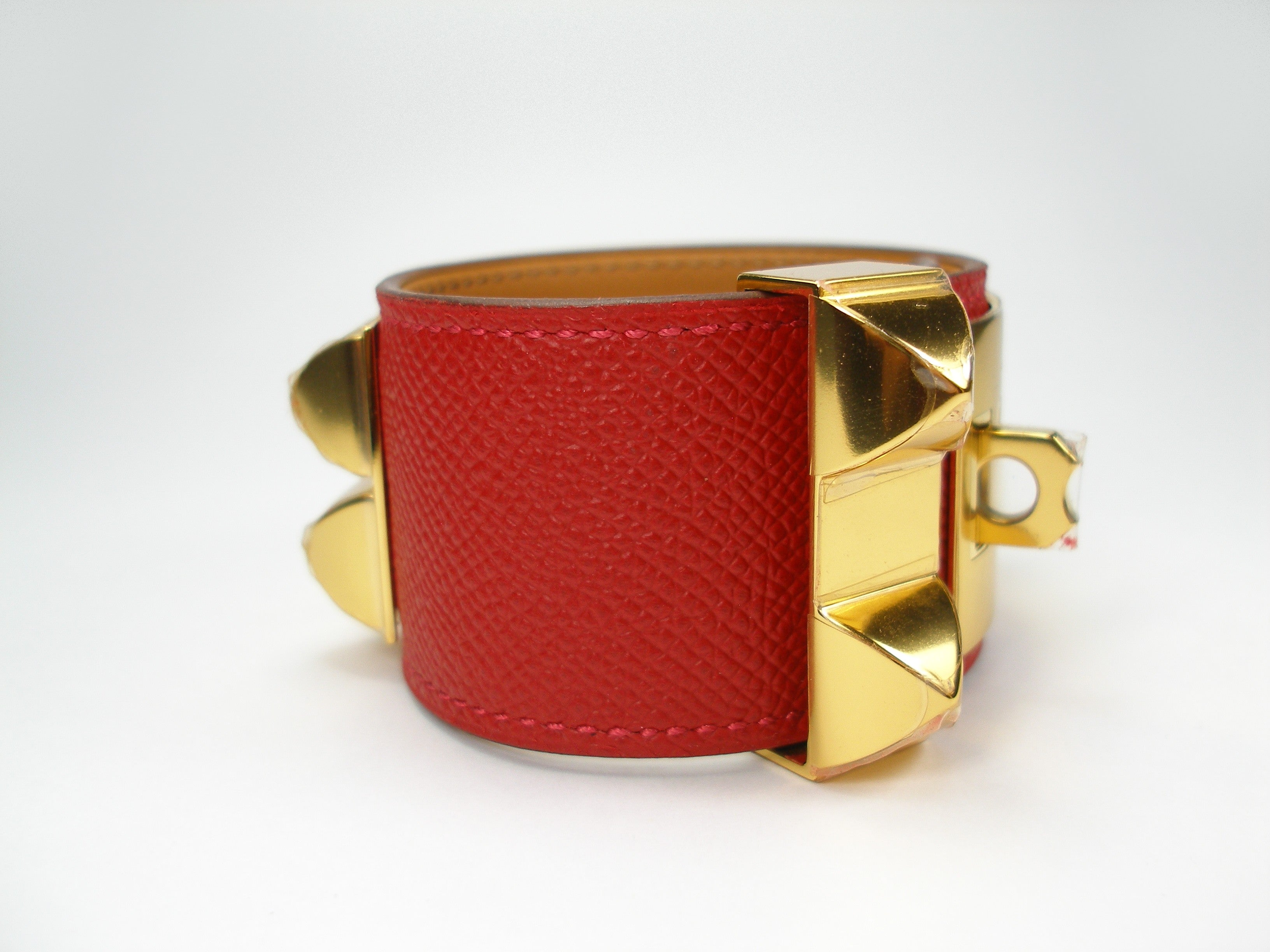 bracelet wrap the herm hermes realreal bracelets de s products chien collier enlarged jewelry