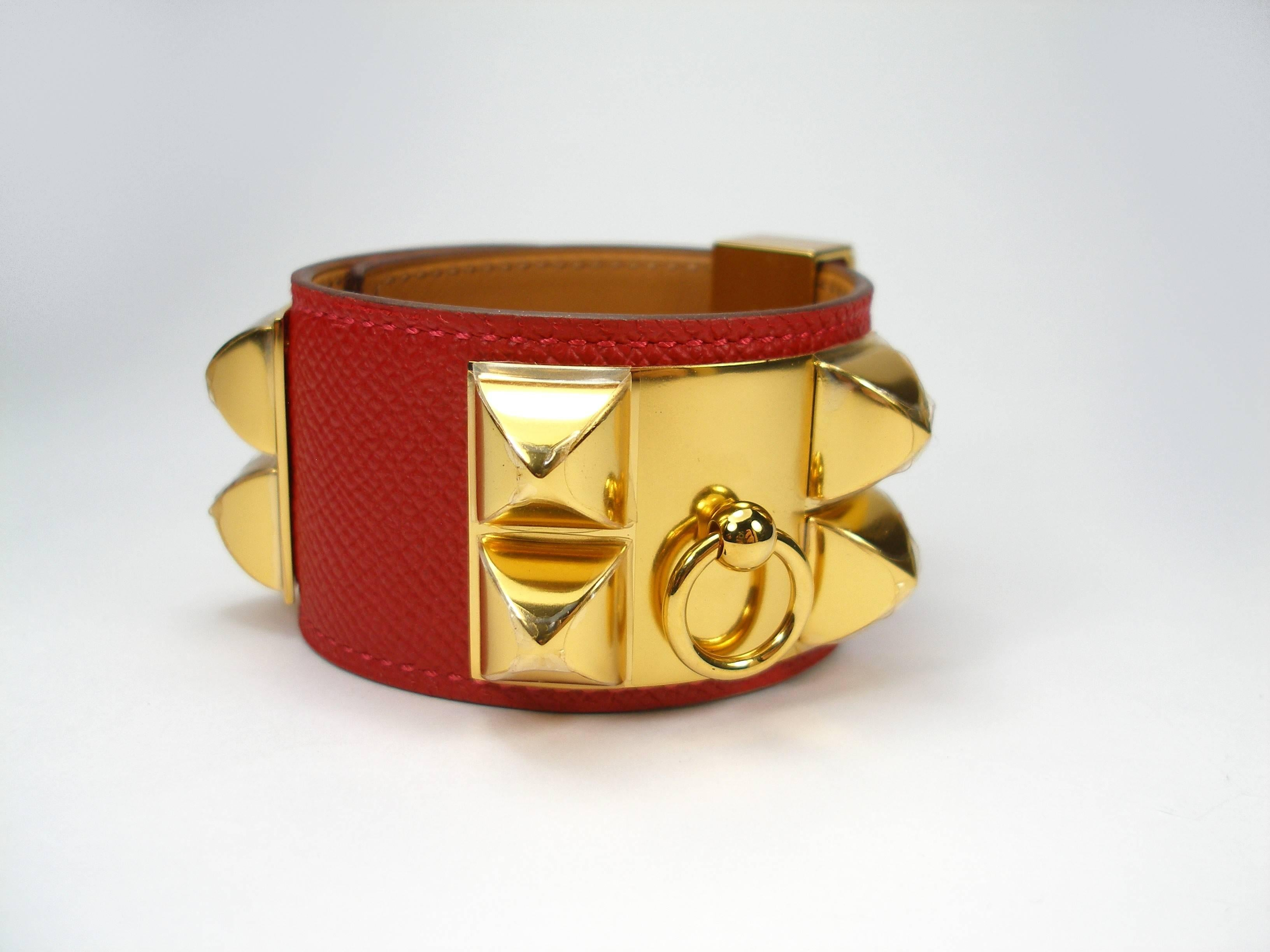 hermes bracelet c chien tadelakt fauve leather de small collier