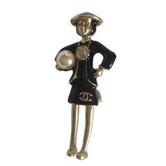 VERY CUTE Chanel VIP Gift Brooch Mademoiselle COCO /  LIKE NEW