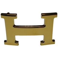 Hermès H Constance Belt Buckle Gold Plated 3.2 cm / Excellente Condition