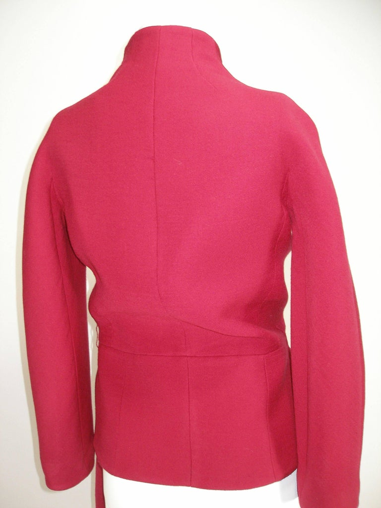 John Galliano For Christian Dior Runway Wool Framboise Suit Skirt FR38, 2009   In Fair Condition For Sale In VERGT, FR