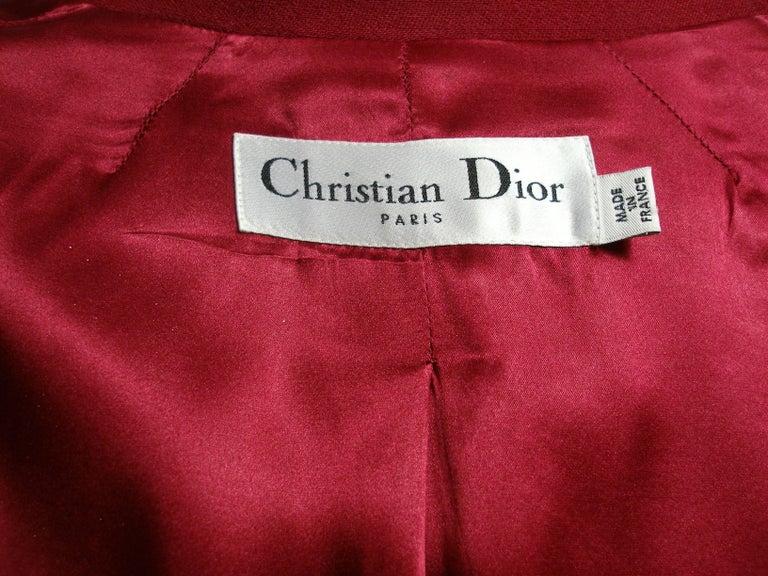 Women's John Galliano For Christian Dior Runway Wool Framboise Suit Skirt FR38, 2009   For Sale
