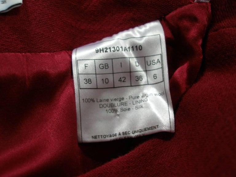 John Galliano For Christian Dior Runway Wool Framboise Suit Skirt FR38, 2009   For Sale 1