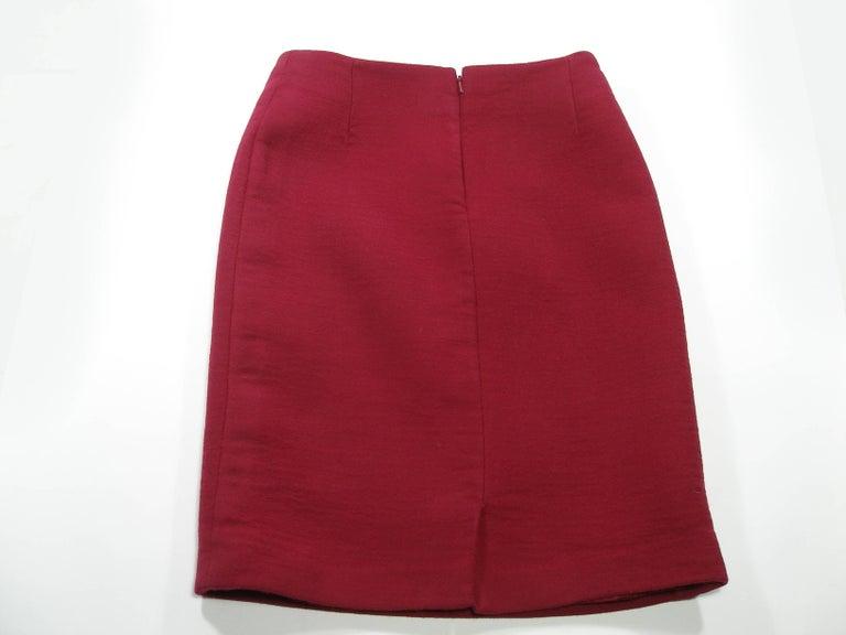 John Galliano For Christian Dior Runway Wool Framboise Suit Skirt FR38, 2009   For Sale 3