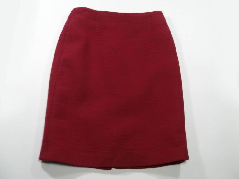 John Galliano For Christian Dior Runway Wool Framboise Suit Skirt FR38, 2009   For Sale 2