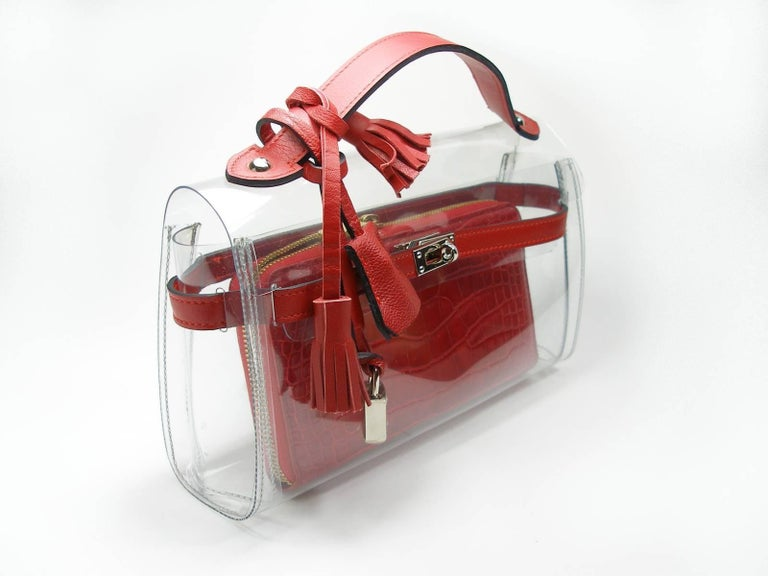 Circa 2010's Rare Louis Vuitton Wallet or Clutch Zippy Red Alligator Wallet For Sale 1