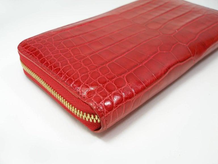 130dd1d2fc77 Women s Circa 2010 s Rare Louis Vuitton Wallet or Clutch Zippy Red Alligator  Wallet For Sale