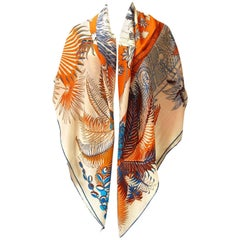 Gorgeous and Rare New Hermes Mythiques Phoenix Cashmere and Silk Shawl 140 cm