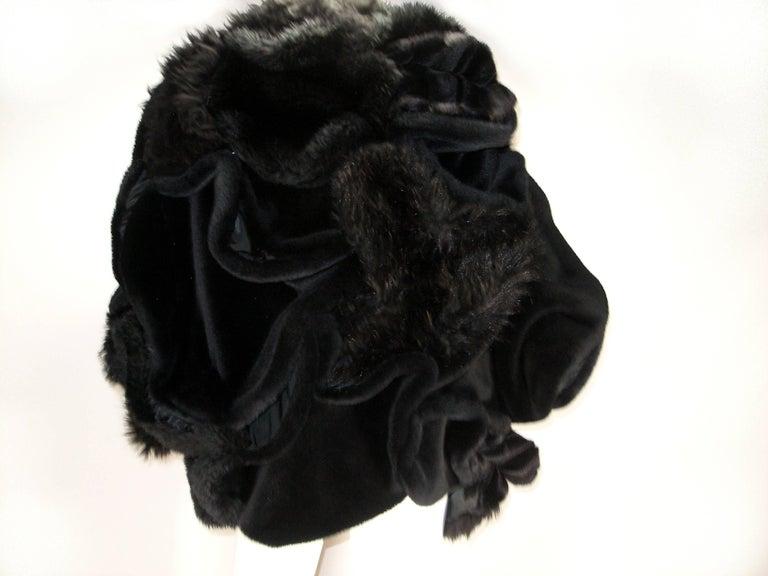 Women's Collectible Piéce Junya Watanabe Comme des Garçons Fake Fur Cape Boléro M Size For Sale