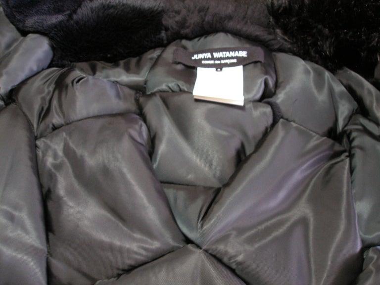 Collectible Piéce Junya Watanabe Comme des Garçons Fake Fur Cape Boléro M Size For Sale 4
