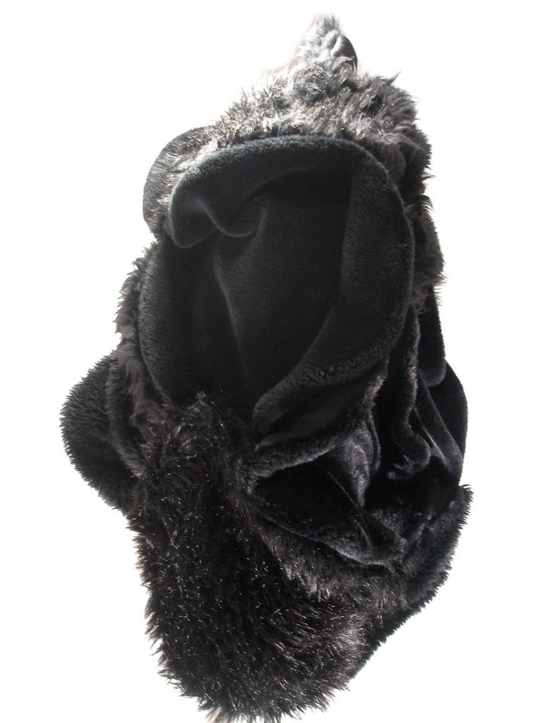 Collectible Piéce Junya Watanabe Comme des Garçons Fake Fur Cape Boléro M Size For Sale 2